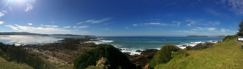 Views from a lookout across the coastline