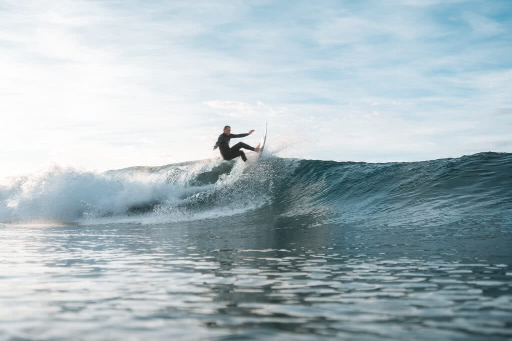 Surfing at Broulee