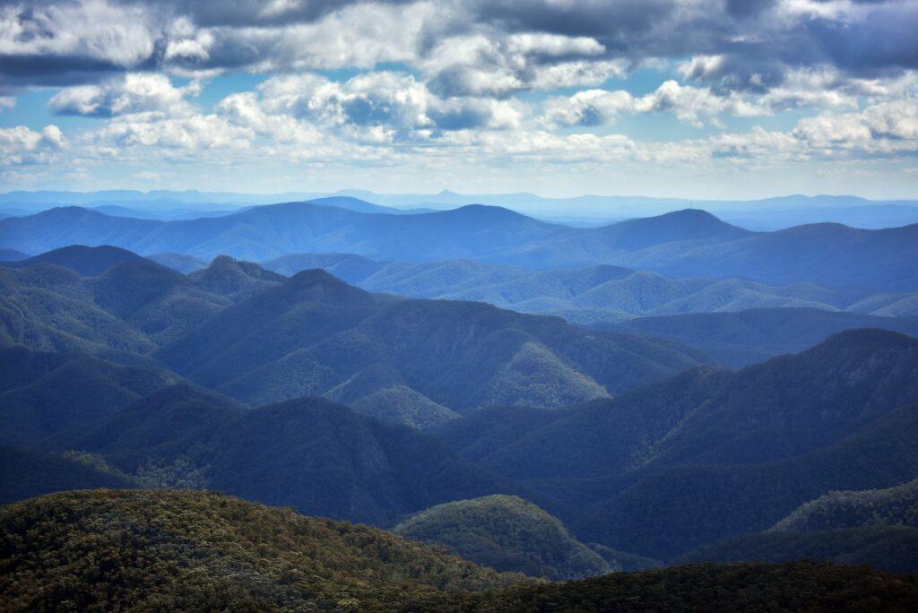 Views across the mountains of Deua National Park
