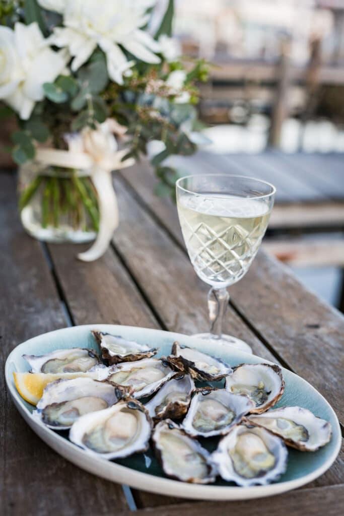 Eating oysters at Narooma