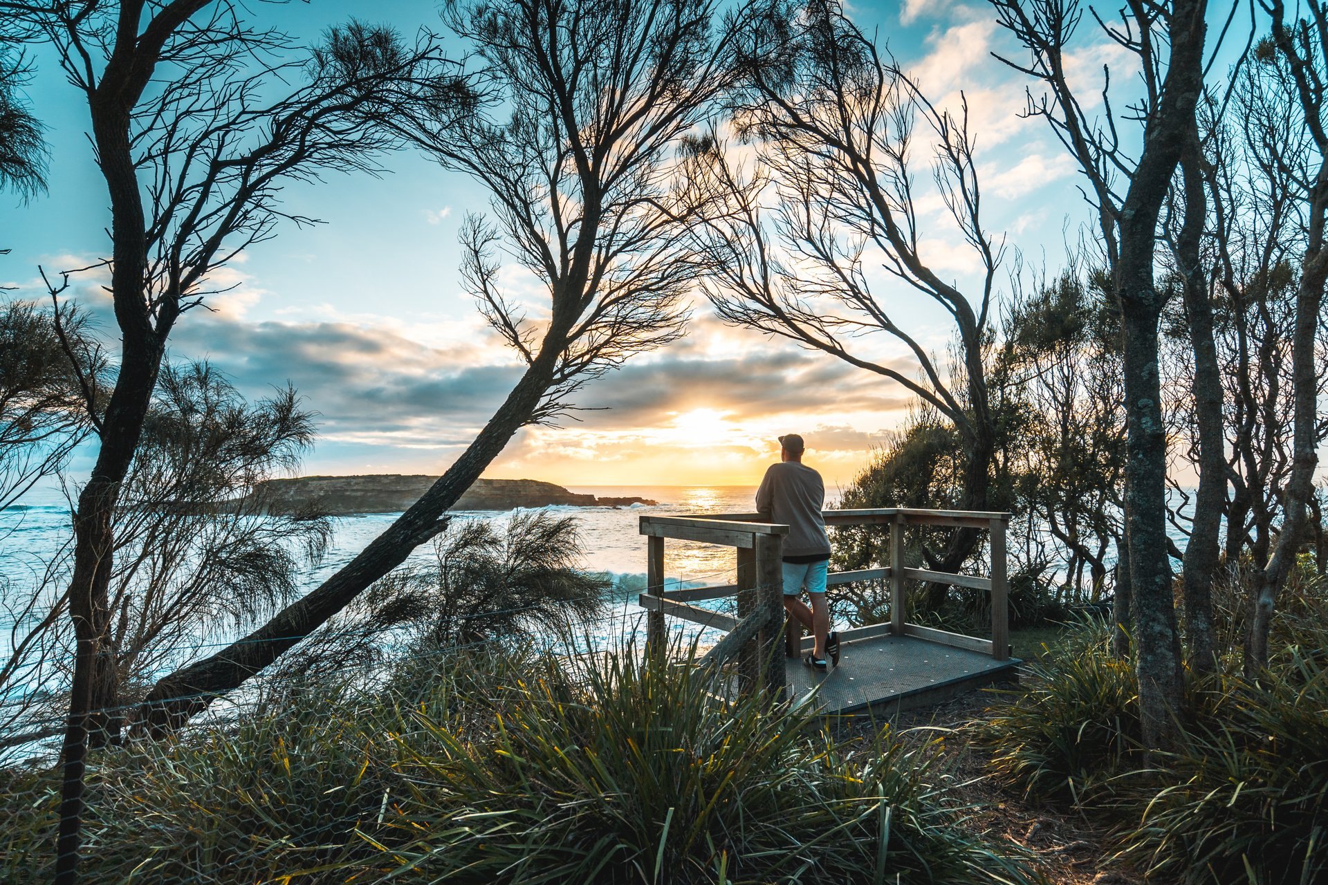 standing at the lookout in South Durras