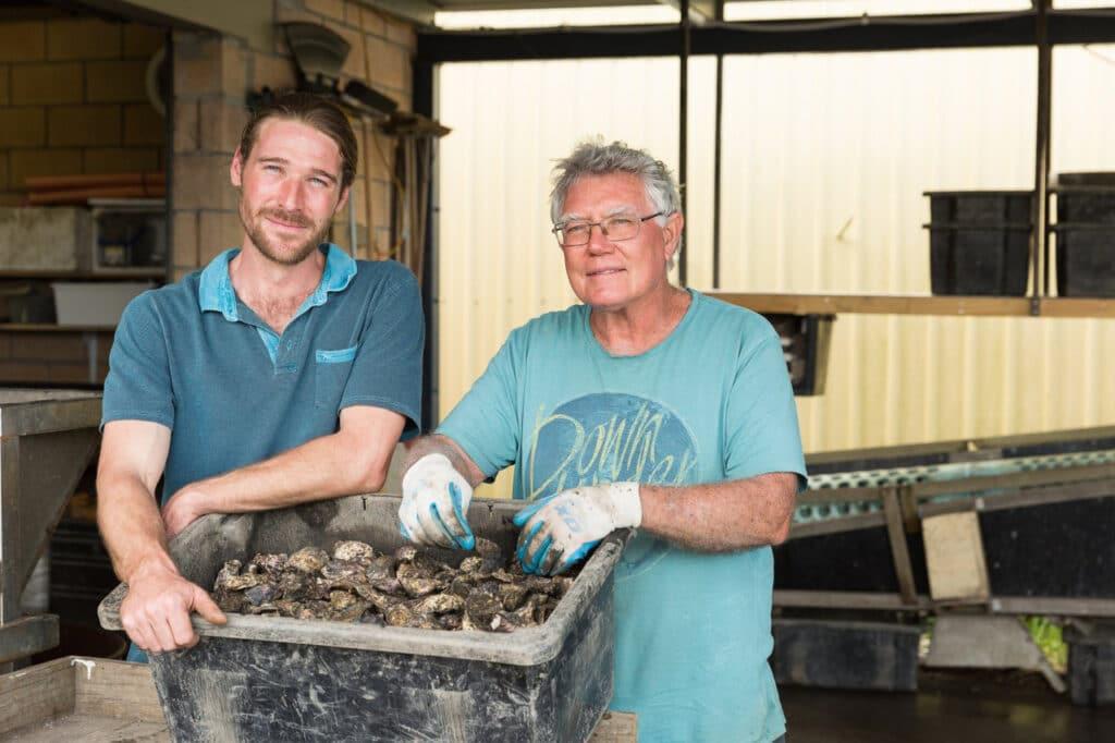 Oyster farmers