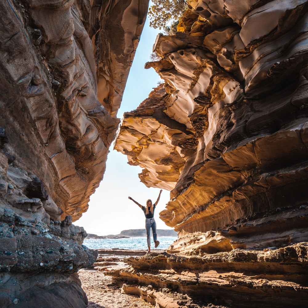 Sandstone cliffs Murramarang National Park