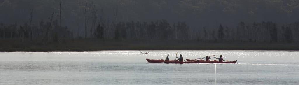 Kayaking on Durras Lake