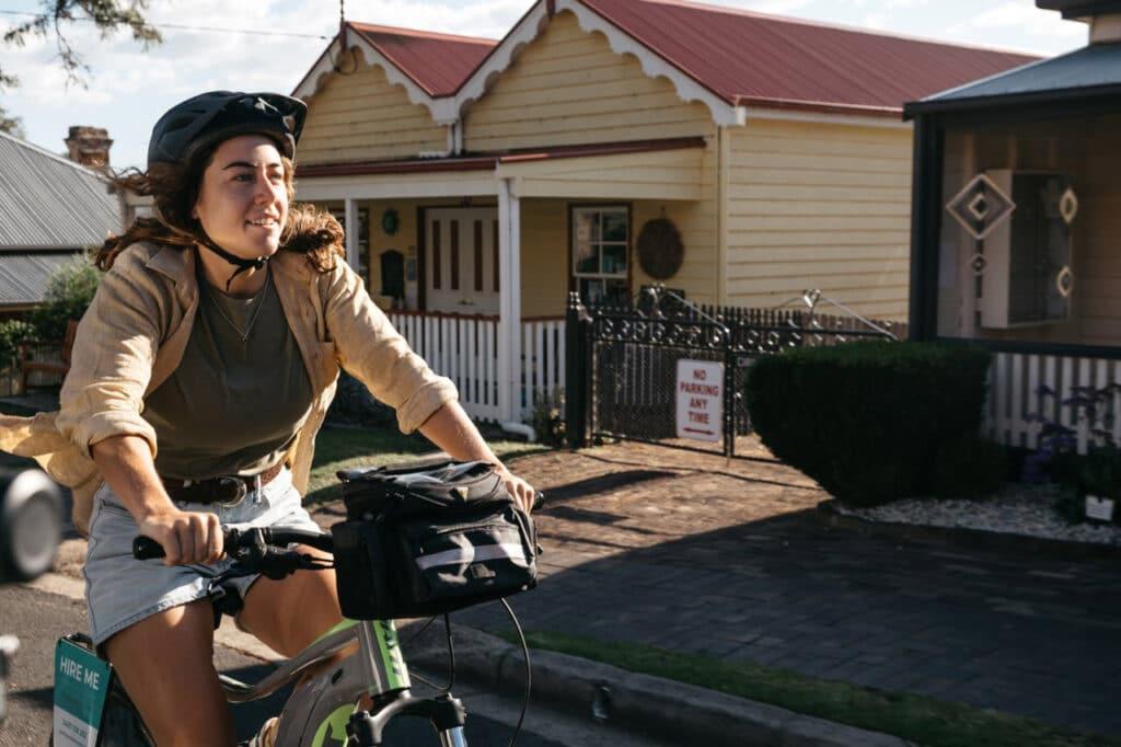Cycling at Central Tilba