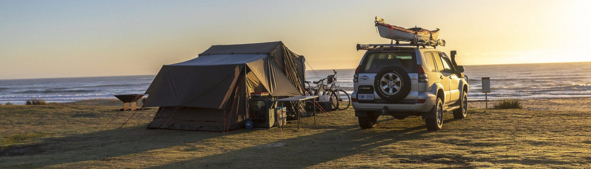 Camping by the beach